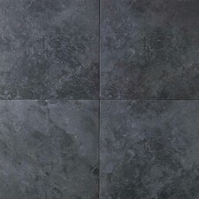 Continental Slate Porcelain Glazed Field Tile in Asian Black