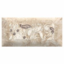 "Del Monoco 6-1/2"" x 3-1/4"" Glazed Decorative Tile in Carmina Beige"