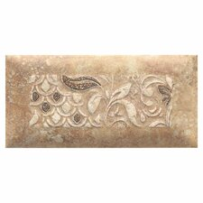 "Del Monoco 6-1/2"" x 3-1/4"" Glazed Decorative Tile in Adriana Rosso"
