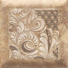 "Del Monoco 6-1/2"" x 6-1/2"" Glazed Decorative Tile in Adriana Rosso"