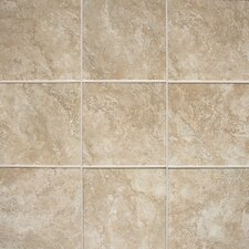 "Del Monoco 13"" x 13"" Glazed Field Tile in Carmina Beige"