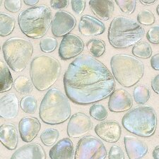 "Glass Pebbles 10"" x 10"" Decorative Accent in Petra Iridescent"