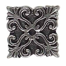 "Massalia 1"" x 1"" Decorative Frieze Button in Pewter"