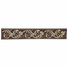 "Massalia 6"" x 1"" Decorative Frieze Accent Strip in Bullion"