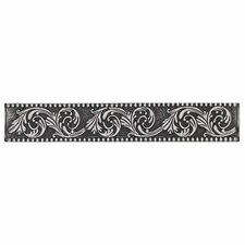 "Massalia 6"" x 1"" Decorative Frieze Accent Strip in Pewter"