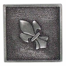 "Massalia 2"" x 2"" Decorative Fleur De Lis Accent in Pewter"
