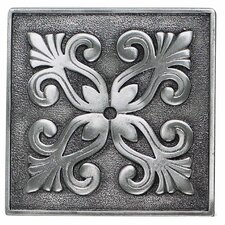 "Massalia 4"" x 4"" Decorative Frieze Accent in Pewter"