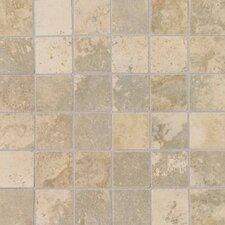 "Pietre Vecchie 2"" x 2"" Mosaic Field Tile in Champagne"