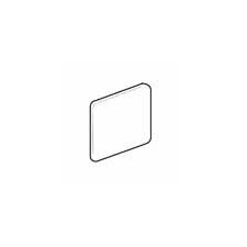 "Sandalo 6"" x 6"" Surface Bullnose Corner Tile Trim in Serene White"