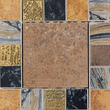 "Terra Antica 6"" x 6"" Decorative Accent Insert in Bruno"