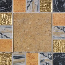 "Terra Antica 6"" x 6"" Decorative Accent Insert in Oro"