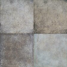 "Terra Antica 18"" x 18"" Field Tile in Celeste/Grigio"