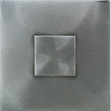 "<strong>Daltile</strong> Urban Metals 2"" x 2"" Geo Decorative Dot in Stainless"