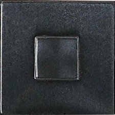 "Urban Metals 2"" x 2"" Geo Decorative Dot in Gunmetal"