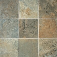 "Franciscan Slate 12"" x 12"" Unpolished Field Tile in Woodland Verde"