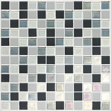 "Keystones Blends 1"" x 1"" Porcelain with Oceanside Glass Unpolished Mosaic in Tropical Thunder"