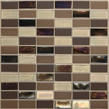 "Coastal Keystones 2"" x 1"" Straight - Joint Porcelain with Oceanside Glass Mosaic Tile in Treasure Island"