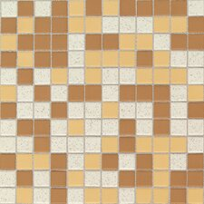 "Keystones Blends 1"" x 1"" Plain Porcelain Mosaic Tile in Desert"