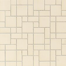 "Keystones Blends 12"" x 24"" Plain Porcelain Mosaic Tile in Almond"