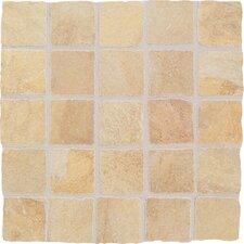 """Portenza 3"""" x 3"""" Tumbled Mosaic Field Tile in Oro Chiaro"""