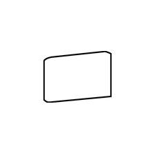 "Rittenhouse Square 6"" x 3"" Bullnose Corner Left Tile Trim in Matte Black"