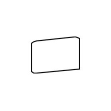 "Rittenhouse Square 6"" x 3"" Bullnose Corner Right Tile Trim in Kohler Black"