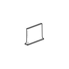 """Rittenhouse Square 6"""" x 3"""" Cove Base Corner Right Tile Trim in Matte Arctic White"""