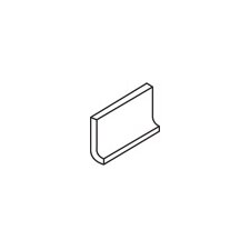 "Rittenhouse Square 6"" x 3"" Cove Base Tile Trim in White"