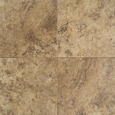 "Travata 13"" x 13"" Plain Glazed Porcelain Tile in Caramel Haze"