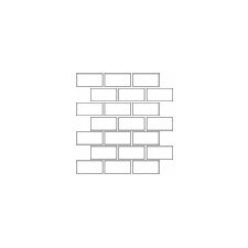"Rittenhouse Square 4"" x 2"" Brick Joint Mosaic in White"