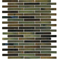 "Fashion Accents 3"" x 5/8"" Glazed Shimmer Illumini Random Mosaic in Meadow"