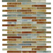 "Fashion Accents 3"" x 5/8"" Glazed Shimmer Illumini Random Mosaic in Lake"