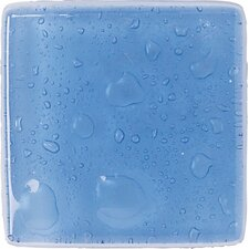 "Fashion Accents 2"" x 2"" Dots Decorative Ocean Glass Insert Tile in Lagoon (Set of 24)"