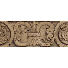 "Fashion Accents 8"" x 3"" Romanesque Decorative Listello in Medallion Noce"