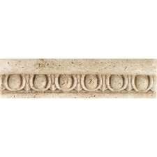 "Fashion Accents 8"" x 2"" Romanesque Decorative Listello in Jacquard Travertine"