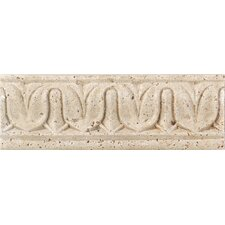 "Fashion Accents 8"" x 3"" Romanesque Decorative Listello in Balota Travertine"