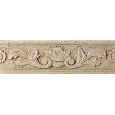 "Fashion Accents 13"" x 4"" Romanesque Decorative Listello in Positano Travertine"