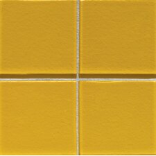 "Molten Glass 4 1/4"" x 4 1/4"" Wall Tile in Daffodil"