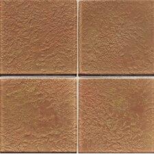 "Molten Glass 4 1/4"" x 4 1/4"" Wall Tile in Copper Mine"