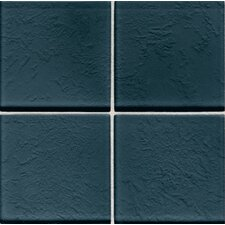 "Molten Glass 4 1/4"" x 4 1/4"" Wall Tile in Midnight"