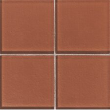 "Molten Glass 4 1/4"" x 4 1/4"" Wall Tile in Papaya"
