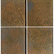 "Molten Glass 4 1/4"" x 4 1/4"" Multi-Colored Wall Tile in Grand Canyon"