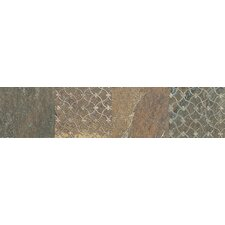 "Ayers Rock 13"" x 3"" Unpolished Decorative Border in Rustic Remnant"