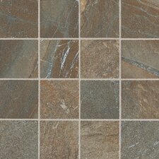 "Ayers Rock 3"" x 3"" Unpolished Glazed Porcelain Mosaic in Rustic Remnant"
