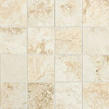 "Fantesca 11-5/8"" x 11-5/8"" Unpolished Glazed Porcelain Mosaic in Chardonnay"