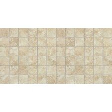 "Heathland 24"" x 12"" Unpolished Ceramic Mosaic in Sunrise Blend"