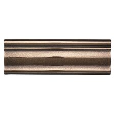 "Metal Ages 12"" x 4"" Glazed Chair Rail Tile Trim in Polished Bronze"
