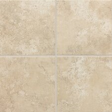 "Stratford Place 18"" x 18"" Unpolished Ceramic Floor Tile in Alabaster Sands"
