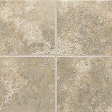 "Stratford Place 18"" x 18"" Unpolished Ceramic Floor Tile in Dorian Grey"