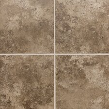 "Stratford Place 12"" x 12"" Unpolished Ceramic Floor Tile in Truffle Field"